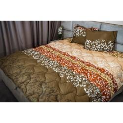 Спално бельо 100% Памук Белю кафе