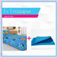 Детско спално бельо Немо и шалте 1+1