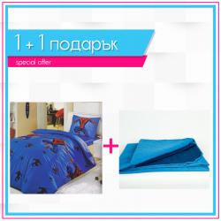 Детско спално бельо Спайдермен и Венъм и шалте 1+1