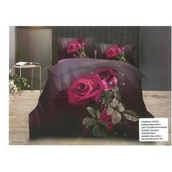 3D Спално бельо Purple Rose