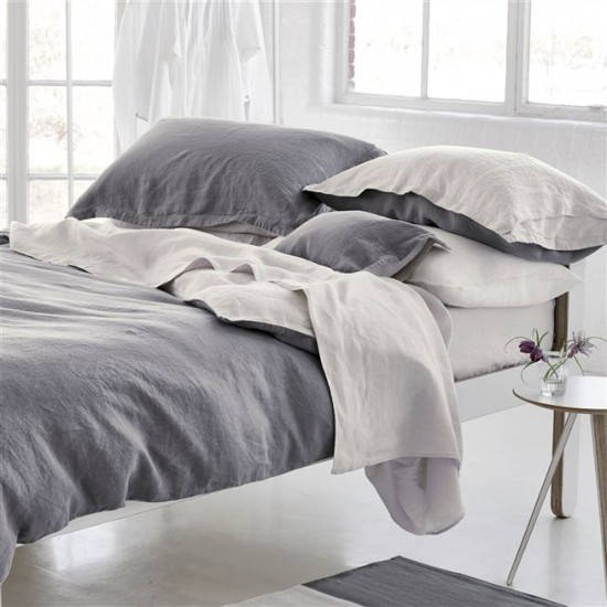 Двулицево спално бельо Сиво ранфорс