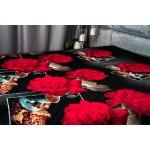 Червена роза шалте от микрофибър