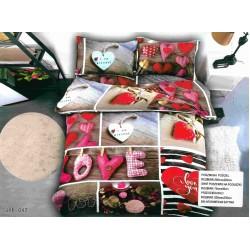 3D спално бельо Pink Love