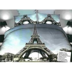 3D Спално бельо Айфелова кула