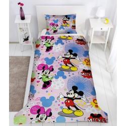 Детско спално бельо от ранфорс Мики и Мини