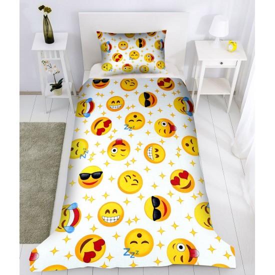100% Памук детско спално бельо Емотикони