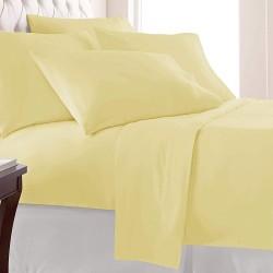 Жълто спално бельо ранфорс