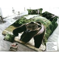 3D Спално бельо Мечок
