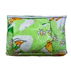 Бебешко спално бельо 100% памук BeeBear зелено