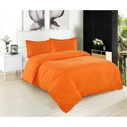 Оранжево спално бельо ранфорс