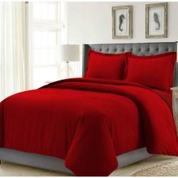 Червено спално бельо ранфорс