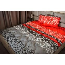 Спално бельо 100% Памук Белю червено