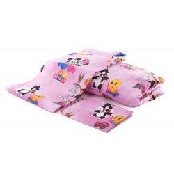 Бебешко спално бельо от 100% памук ГЕРОИ розово