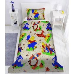 Детско спално бельо ранфорс Мечо Пух