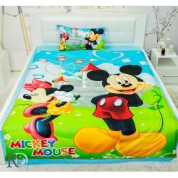 Детско спално бельо от памучен сатен Мики Маус