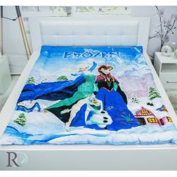 3D Олекотена завивка Замръзналото кралство памучен сатен