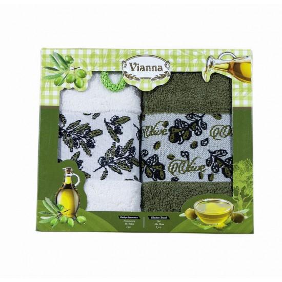 2бр. Кухненска хавлиена кърпа Olive Oil