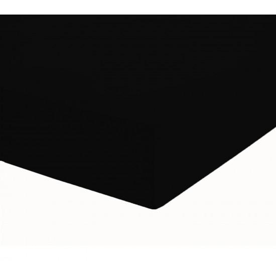 Чаршаф с ластик от ранфорс Черно