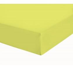Чаршаф с ластик от ранфорс Жълто