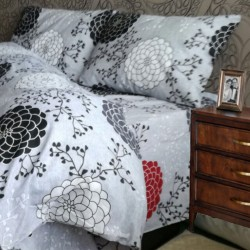 Спално бельо от 100% Памук Сребристи Цветя
