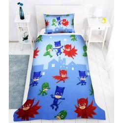 Детско спално бельо PJ Masks в синьо