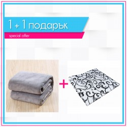 Шалте Елегант и сиво одеяло 1+1