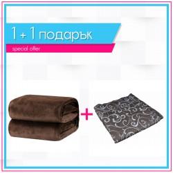 Шалте Елегант и кафяво одеяло 1+1