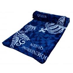 Поларено одеяло Queen синьо