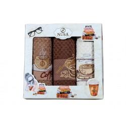 Вафлени кухненски кърпи CoffeBreak