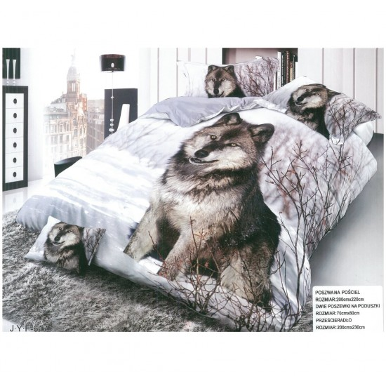 3D Спално бельо Wolf