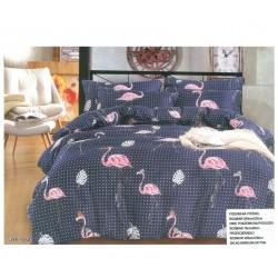Дизайнерско спално бельо Flamingo синьо