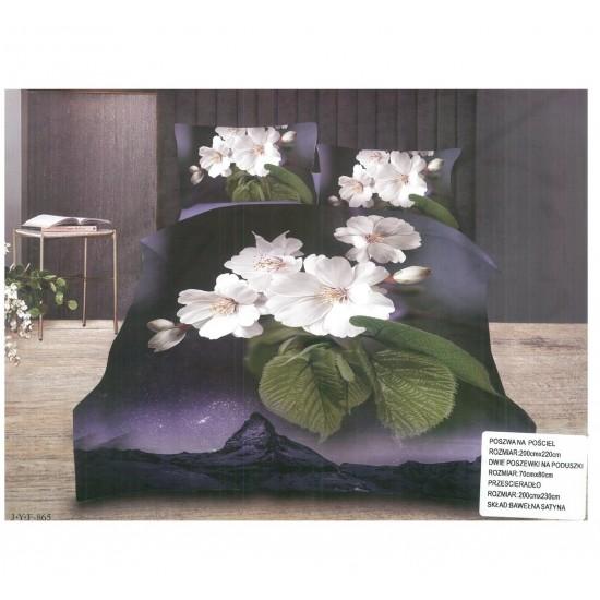 3D Спално бельо Черна Орхидея