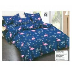 3D Спално бельо Blue Flamingos