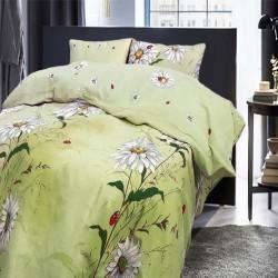 Спално бельо от 100% Памук Маргаритка зелено