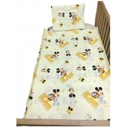 Бебешко спално бельо Мики Маус жълто