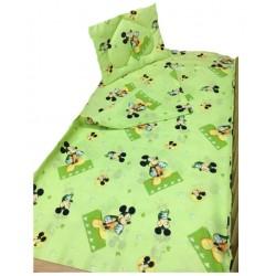 Бебешко спално бельо Мики Маус зелено
