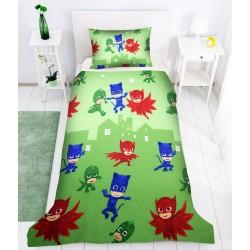 Детско спално бельо PJ Masks в зелено