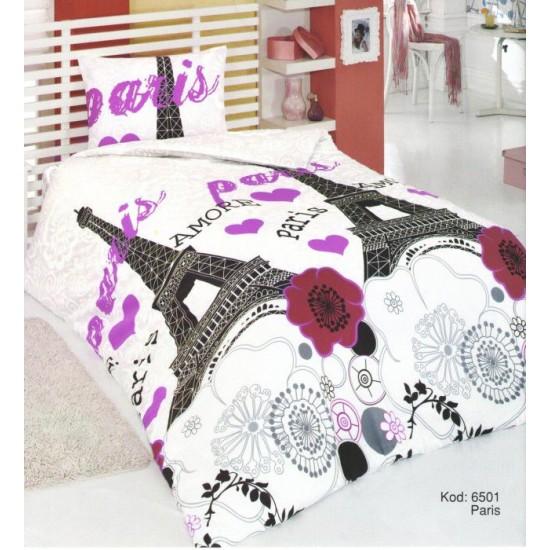 Спално бельо от 100% Памук Paris Lilac
