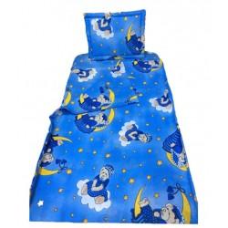 Бебешко спално бельо 100% Памук Mo Bear Blue