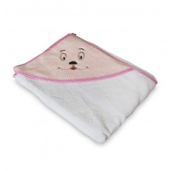 Бебешка хавлийка 100% памук Sweety pink