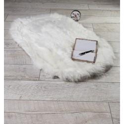 Луксозно килимче от кожа БЯЛО
