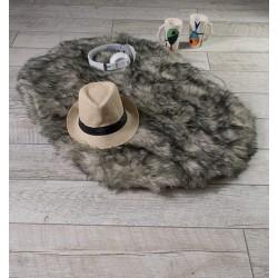 Луксозно килимче от кожа СИВО