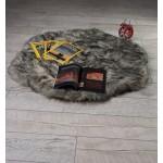 Луксозно кръгло килимче от кожа СИВО