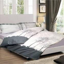 Спално бельо от фин памук Дърво сиво