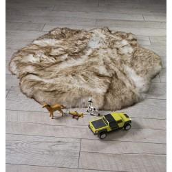 Луксозно кръгло килимче от кожа РИЖ
