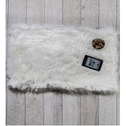 Пухкаво килимче БЯЛО