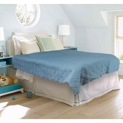 Шалте - покривало за легло Синьо