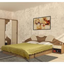 Шалте - покривало за легло Жълто