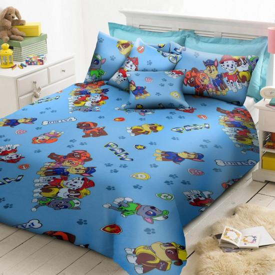 Детско спално бельо от ранфорс Кучешки Патрул