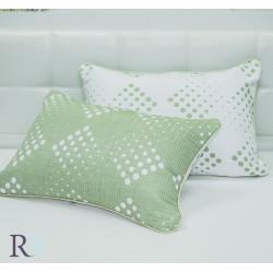 Луксозна декоративна калъфка КАПКИ  зелено